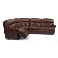 Triton Leather Reclining Sectional Product Image