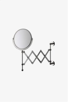 "Crystal Wall Mounted 7 1/4"" dia. Magnifying Extension Mirror STYLE: CRMR38"
