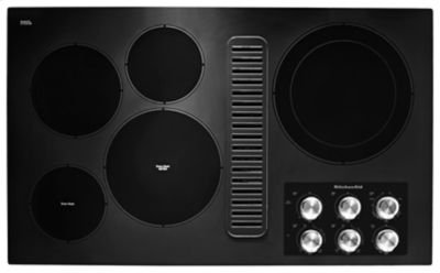 """36"""" Electric Downdraft Cooktop with 5 Elements - Black Product Image"""