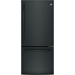 GE® ENERGY STAR® 21.0 Cu. Ft. Bottom-Freezer Refrigerator - BLACK