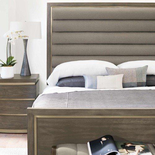 King-Sized Profile Panel Bed in Profile Warm Taupe (378)