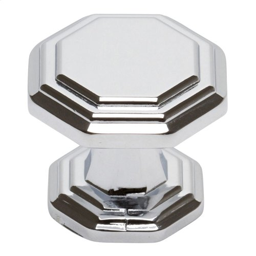 Dickinson Octagon Knob 1 1/4 Inch - Polished Chrome