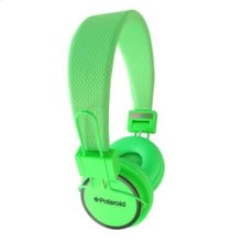 Polaroid Neon Noise Isolating Foldable Studio Headphones , Green - PHP8400GR