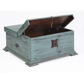Cocktail Trunk - Turquoise Finish