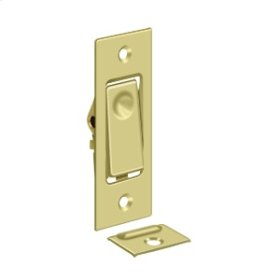 Pocket Door Bolts, Jamb bolt - Polished Brass