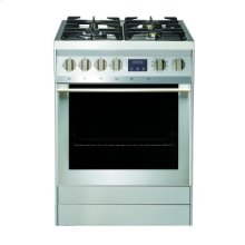 "24"" (60cm) stainless steel slide-in dual fuel range"