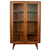 Milano Glass Door Cabinet, Walnut Product Image