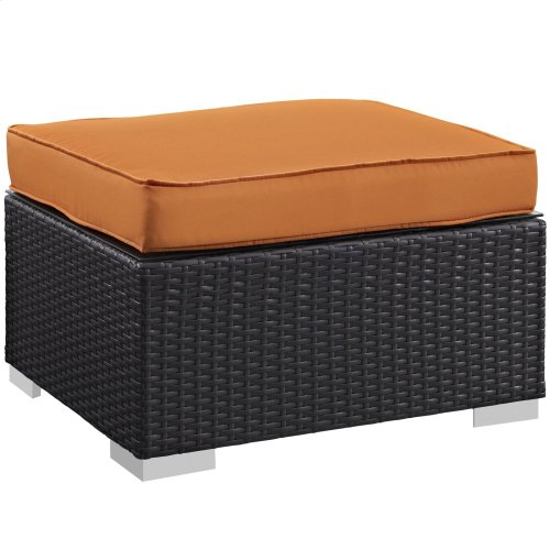 Convene 5 Piece Outdoor Patio Sectional Set in Espresso Orange