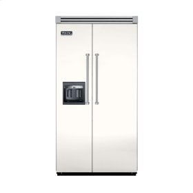 """Cotton White 42"""" Side-by-Side Refrigerator/Freezer with Dispenser - VISB (Integrated Installation)"""