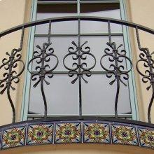 "4"" Geraniums Decorative Talavera Tiles"