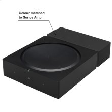 Black- Custom placement for your Sonos Amp with integrated cable management.