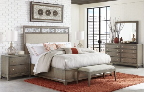 Apex Complete Upholstered Platform Bed, CA King 6/0