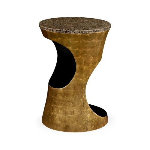 Emperor Gold Round Cut-Out Lamp Table