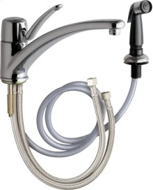 Single Lever Hot and Cold Water Mixing Sink Faucet with Side Spray