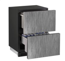 """1000 Series 24"""" Solid Refrigerator Drawers With Integrated Solid Finish and Drawers Door Swing"""