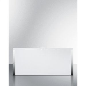 SummitCommercially Listed 24.8 CU.FT. Manual Defrost Chest Freezer With Stainless Steel Corner Guards