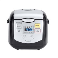 4 Cup (uncooked) Microcomputer Controlled Rice Cooker - Black / Silver - SR-ZC075K