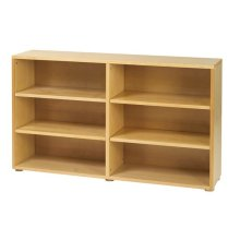Low 6 Shelf Bookcase : Natural