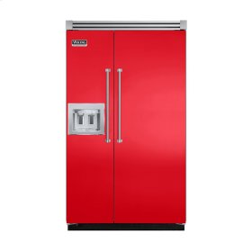 """Racing Red 48"""" Quiet Cool™ Side-by-Side with dispenser - VISB Tru-Flush™ (48"""" wide)"""