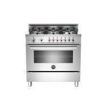 Floor Model 36 6-Burner, Gas Oven Stainless