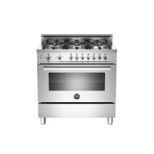Floor Model 36 6-Burner, Gas Oven Stainless