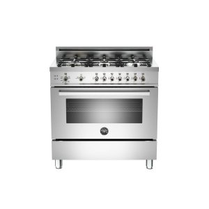 36 6-Burner, Gas Oven Stainless - STAINLESS
