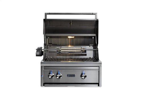 """27"""" Lynx Professional Built In Grill with 2 Ceramic Burners and Rotisserie, LP"""
