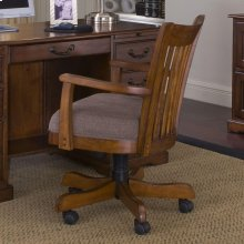Cantata - Upholstered Desk Chair - Burnished Cherry Finish