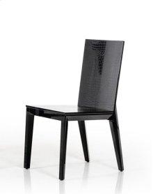 Beatrix - Black Crocodile Dining Chair (Set of 2)