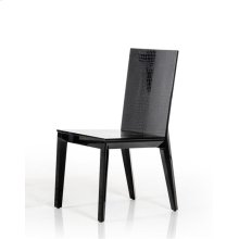 Beatrix - Black Crocodile Dining Chair (Set of 2)