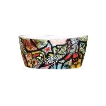 GRAFFITI free-standing hand-painted bathtub