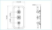 Waldorf 3000 Thermo Valve Trim (3 Outlets) - Polished Chrome
