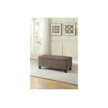 Lift-Top Storage Bench, Brown