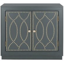 Yuna 2 Door Chest - Steel Teal / Gold / Mirror