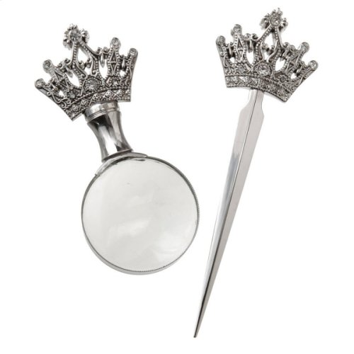 Crown Magnifying Glass and Letter Opener set/2.