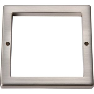 Tableau Square Base 3 Inch - Brushed Nickel Product Image
