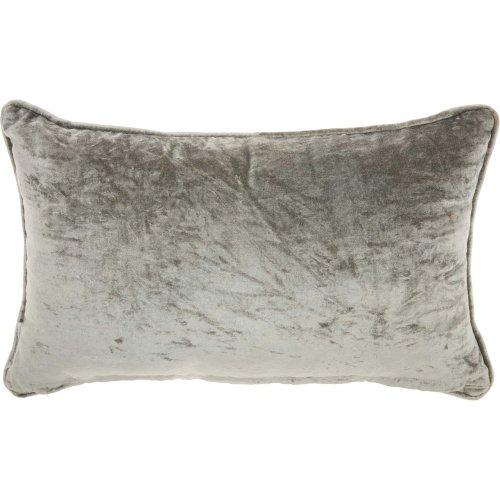 "Trendy, Hip, New-age Cr974 Silver Grey 12"" X 20"" Throw Pillows"