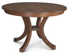 Loft II Round Table, Solid Top
