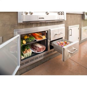 AlfrescoBuilt-In Under Grill Refrigerator