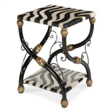 Zebra Accent Table
