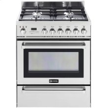 """Stainless Steel 30"""" Self-Cleaning Dual Fuel Range with Warming Drawer"""