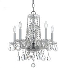 Traditional Crystal 5 Light Clear Crystal Chrome Mini Chandelier