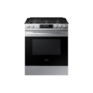 Samsung5.8 cu. ft. 5 Burner Slide-in Gas Range in Stainless Steel