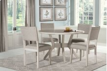 Elder Park 5-piece Round Dining Set - White Sands With Oatmeal Fabric