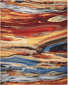 Chroma Crm04 Lava Flow Rectangle Rug 7'9'' X 9'9''