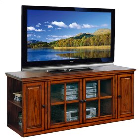 "62"" Burnished Oak TV Stand #88162"
