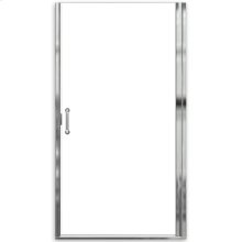 "Euro Frameless Hinge Shower Doors with ""D"" handle - Nickel"