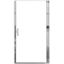 "Euro Frameless Hinge Shower Doors with ""D"" handle - Nickel"