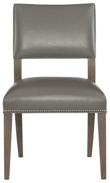 Moore Leather Side Chair in Portobello