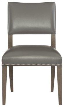 Moore Leather Side Chair in Portobello